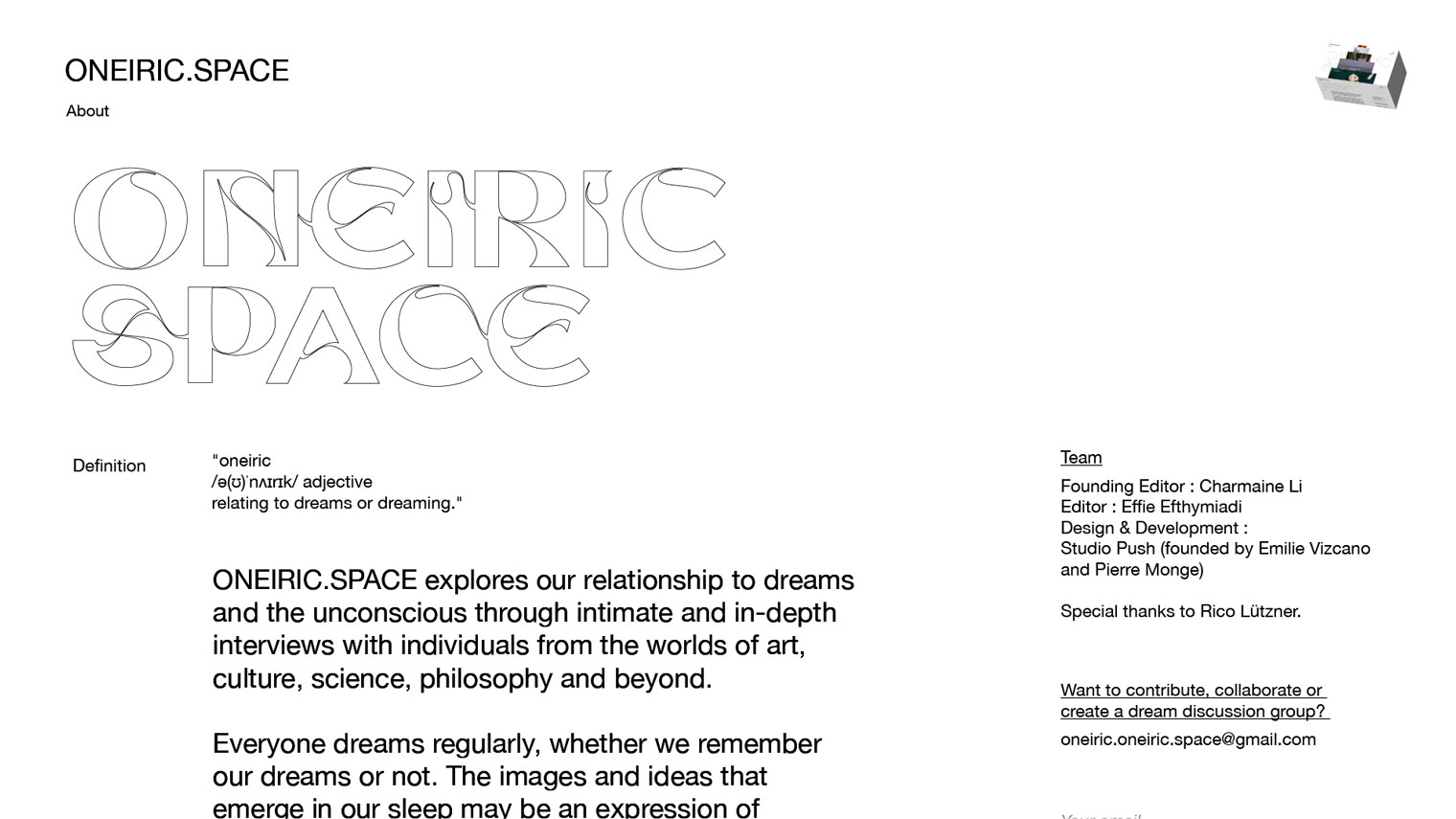 ONEIRIC SPACE - Studio Brasch